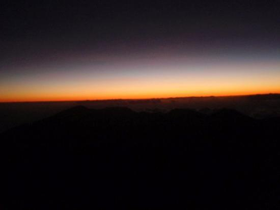 Haleakala Crater: The first light of dawn