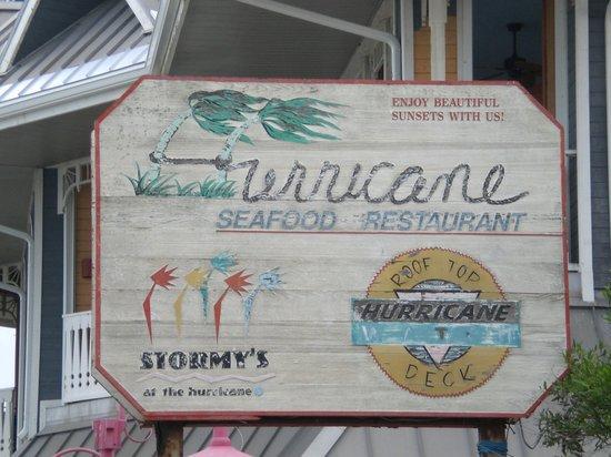 The Hurricane Seafood Restaurant : bar sign