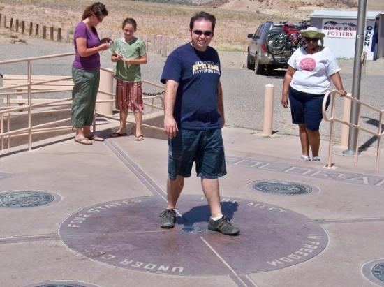 Four Corners Monument: Standing in Arizona, New Mexico, Utah, and Colorado all at the same time