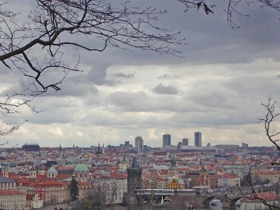 Prag, Tjeckien: View from park Letna