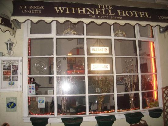The Withnell Hotel: front window