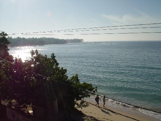 Hotel Dhammika: View from room balcony to left