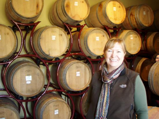 Tuscan Wine Tours by Grape Tours: mom standing in what looks like heaven to me