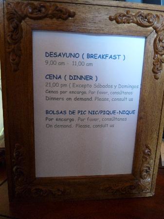 Bajo los Tilos: Desayuno, comida o cena bajo peticion
