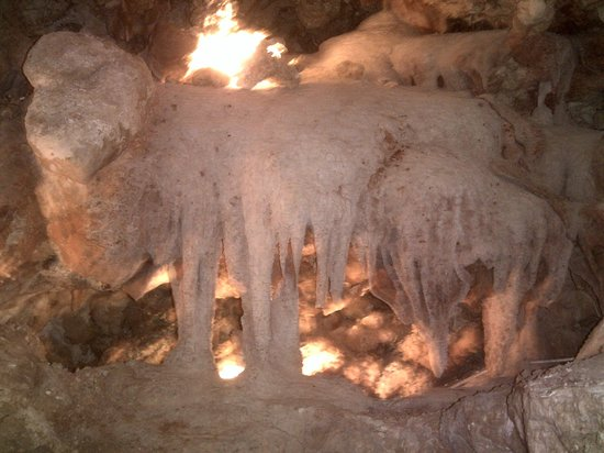 Xaghra, Malta: xerri's groto Stalagmites from the ceiling and floor