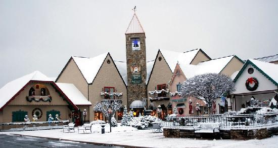 Christmas Place in Snow