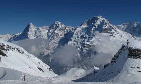 Eiger Guesthouse : Eiger, Monch and Jungfrau mountains
