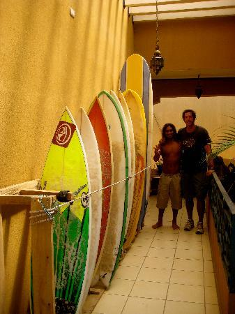 Bahia Paraiso Hostel: try your hand with our surf lessons and board rental