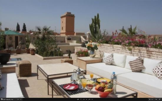 Riad Hizad: terrasse