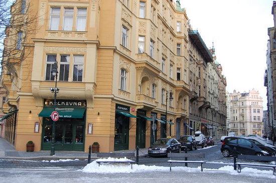 V Kolkovne Restaurant: Kolkovna Restaurant - had a wonderful traditional Czech dish called Svíčková.  Yum!
