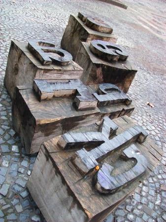 Mainz, Tyskland: Gutenberg museum of type