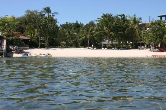Cebu White Sands Resort & Spa: Hotellet från vattnet