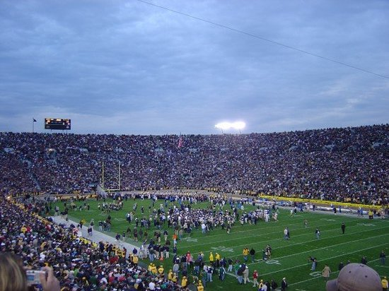 Notre Dame Stadium: Another celebration shot