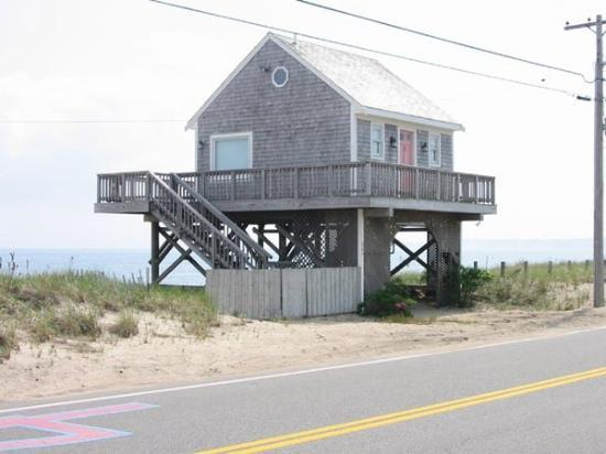 House On Stilts Ocean Side Falmouth Ma United States