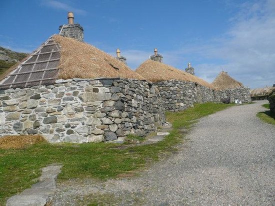 Black house accommodation, Na Gearrannan, Isle of Lewis.