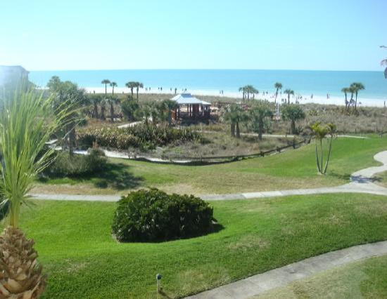 Siesta Dunes Beach Condominiums : view out our bedroom window