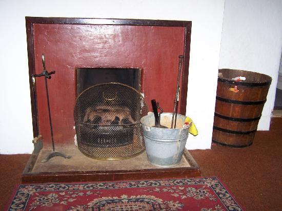 Birr Castle Cottages: The fireplace