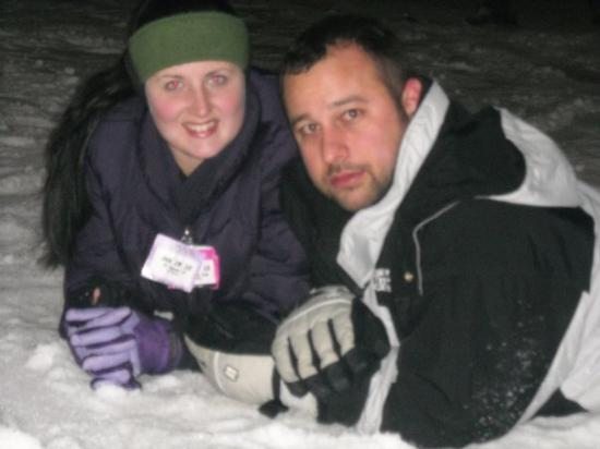 Weston, MO: Me and my hubby playing in the snow