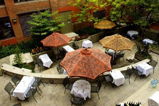 The Ivy at Verity: George Restaurant Patio From Hotel Terrace