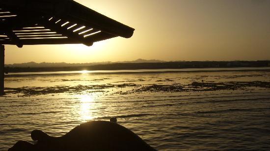 Magic Tulip Beach Resort: tramonto dal pontile