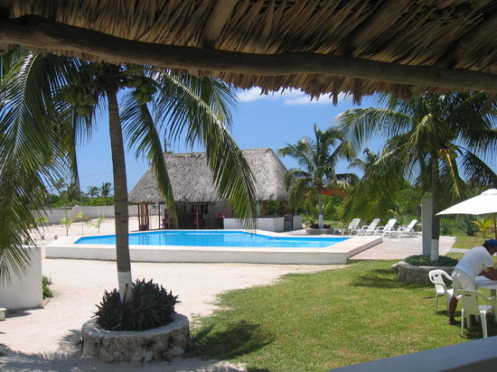 Chelem, Mexico: View from a bungalow