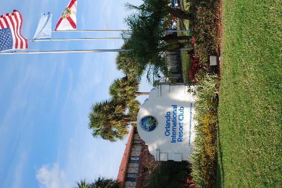 Orlando International Resort Club: OIRC entrance sign
