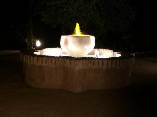 Domaine de Tameslohte : fontaine de nuit