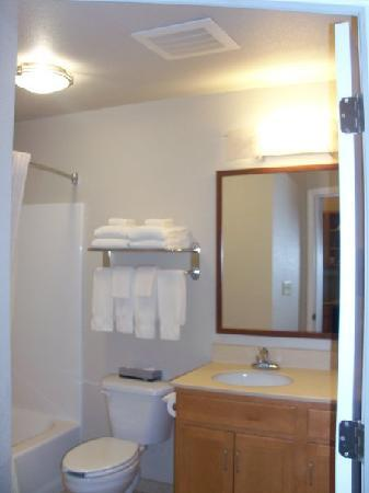 Candlewood Suites Medford: Clean and roomy bathroom