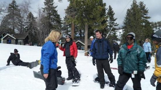 Wrightwood, CA: Beginner Lesson Group.