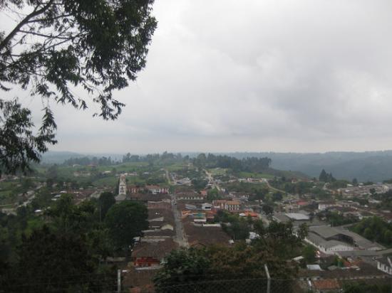 Armenia, Kolombiya: Salento desde arriba