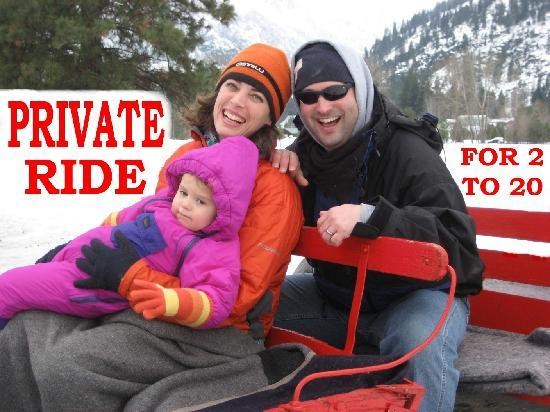 Icicle Outfitters Winter Sleigh Ride : Romantic Private Sleigh Rides