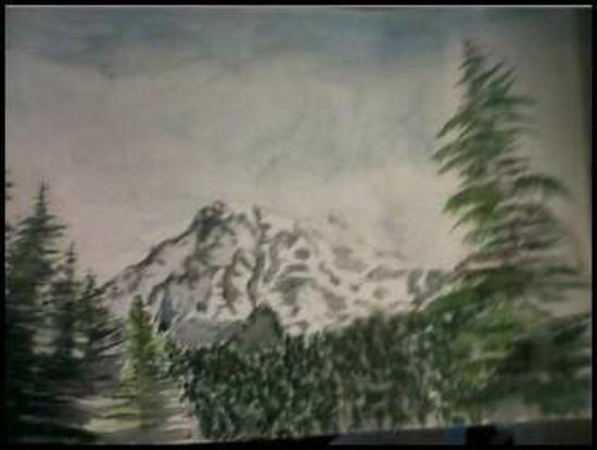 Mount Rainier: Mt Rainier Painting