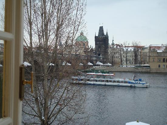 Archibald At the Charles Bridge: The view from our room