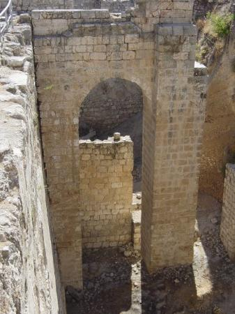 Old City of Jerusalem: Jerusalem - A recently uncovered gate near the pools of Bethesda.