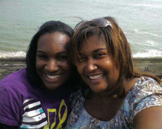 Tocarra and Me at the Capitola beach