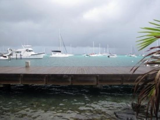 St. Croix: Watching a storm come in... must be time to return to Babylon!  Rum Runners