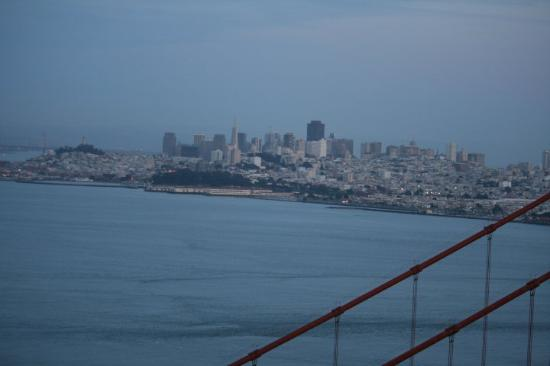 City Sightseeing: San Francisco just after sunset March 11, 2010 from Golden Gate National Recreation Area