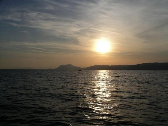 Argalasti, Grecia: Bootsfahrt im Sonnenuntergang