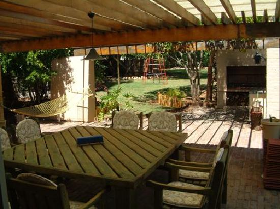101 Oudtshoorn Holiday Accommodation: Terrace with braai (BBQ)