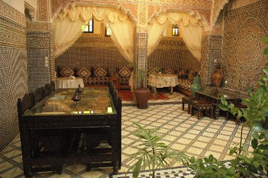 Riad Lahboul: The groundfloor patio