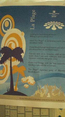 Grand Cayman Marriott Beach Resort: Beach Party Flyer