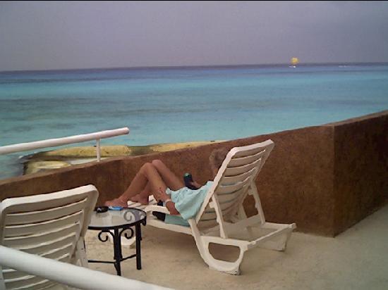 Sunset Fishermen Spa & Resort: our patio