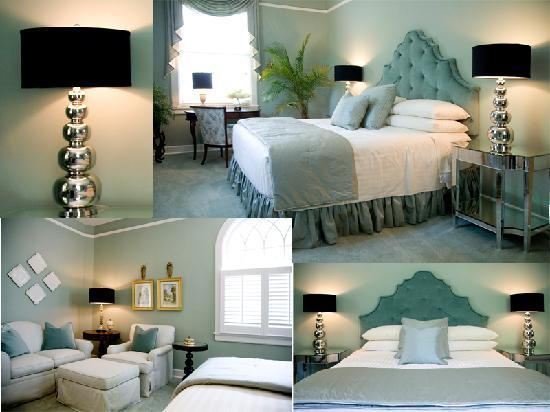 The King's Daughters Inn: The Moss Room in soothing greens with a King Bed