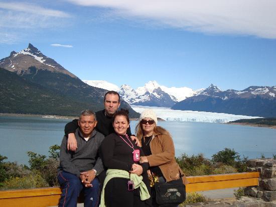 Hosteria Puerto San Julian: mi familia y yo rumbo a el glaciar perito moreno