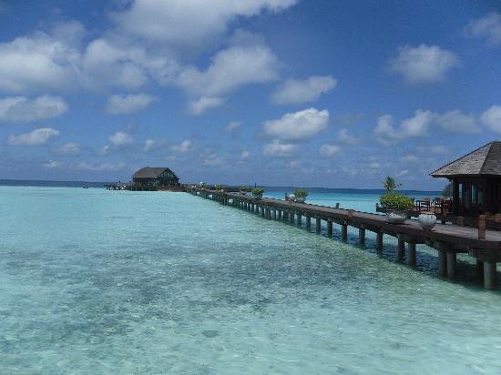 Olhuveli Beach & Spa Maldives: the dive center & jetty