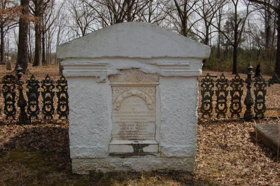 Aberdeen, MS: Mrs. Needham Whitefield was buried here in the mausoleum,sitting in her rocking chair with knitt