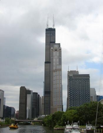Skydeck Chicago - Willis Tower: The Willis Tower.