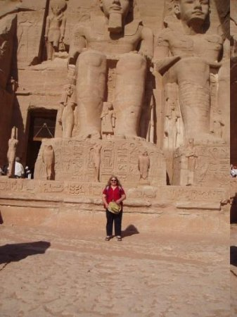 At the temple of Abu Simbel