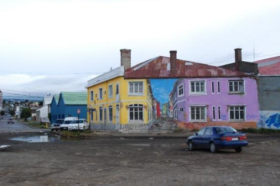 Optical illusion, Punta Arenas, Patagonia