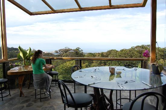 Hidden Canopy Treehouses Boutique Hotel: Veranda with view at breakfast